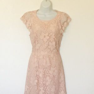 BCBGeneration Blush Lace Cocktail Dress